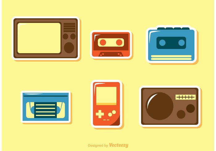 videogame video game tv technology tape player style stereo retro tv retro radio nintendo gameboy cassette tape cassette audio 80's 1980s