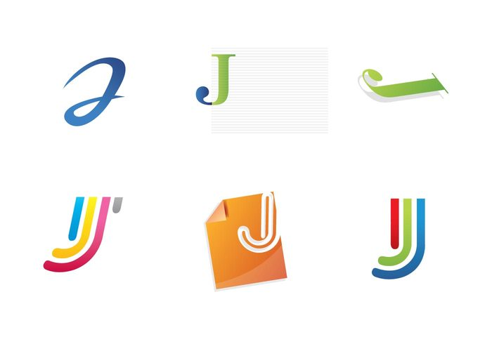 miscellaneous logo Lettering letter jay j free logo