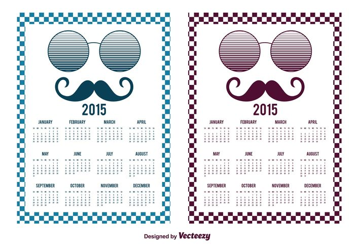 youth vector trendy trend time schedule retro background retro planner organizer number mustache monthly month modern hipster mustache hipster hip glasses funky day daily calendario 2015 calendario calendar 2015 calendar 2015