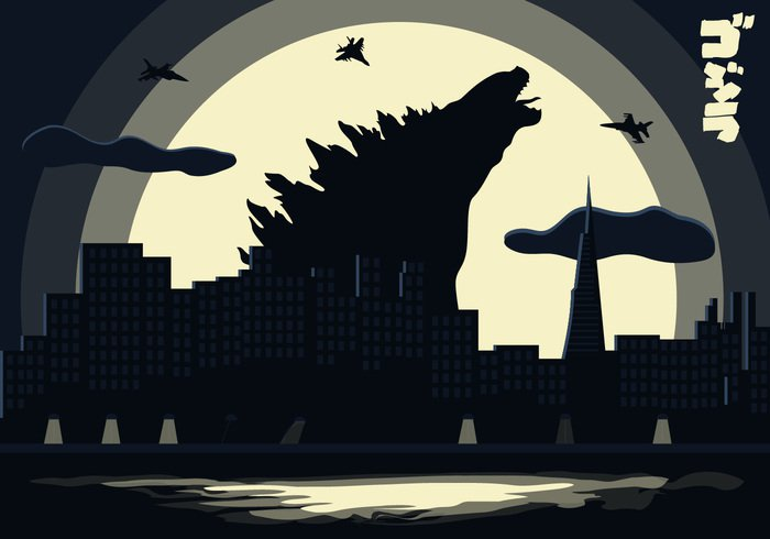 war vector Urban Scene unreal teeth sunset skyscraper skyline simple silhouette sea scream science sci-fi ruined roar retro profile office building obscure night mythical movies movie moon monster jurassic Japanese illustration huge hollywood godzilla Giant Films film fighter plane fiction enormous Enemy Disaster Dinosaurs dinosaur Dino destruction destroy design dark danger creature comic Claw cityscape city character building breaking beast bad background attacking Asian art