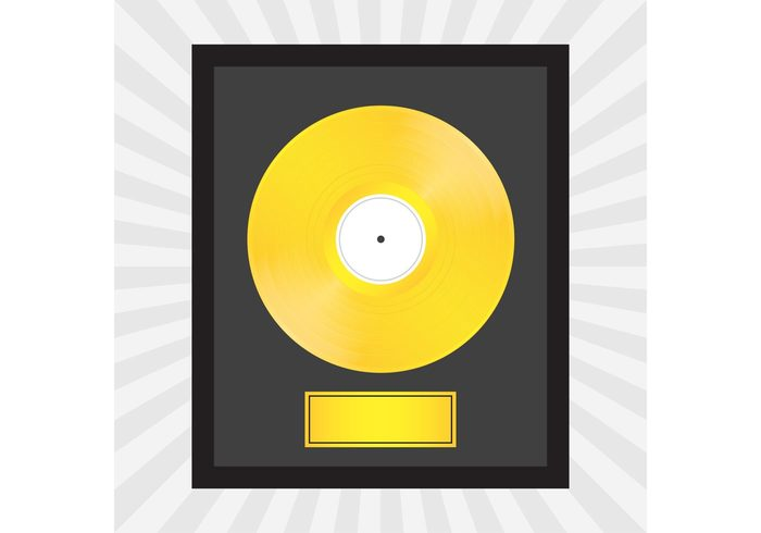 vinyl vintage trophy sound Song Single silver retro Platinum phonograph Past old music metallic metal LP label industry Hifi Grooves gramophone gold frame DJ disk disco disc blank background awards award audio album