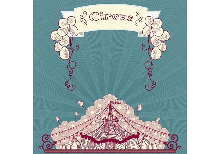 vintage circus vintage theater tent striped sign retro circus retro Premiere poster party marquee leisure fun festival event entertainment Circus carnival cabaret balloon background amusement advertisement