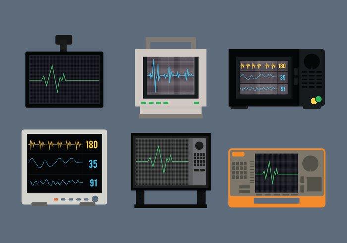 wave vector technology symbol set screen pulse patient medicine medical line light illustration icont heartbeat heart monitor heart gray equipment ekg cardiologist Cardiac Beat background