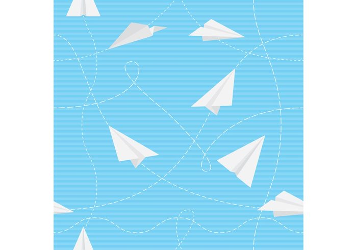 wing transportation transport toy seamless play plane pattern paper origami light imagination handmade game fun freedom fold fly flight craft Conceptual clouds childish childhood blank background aviation airplane aircraft air