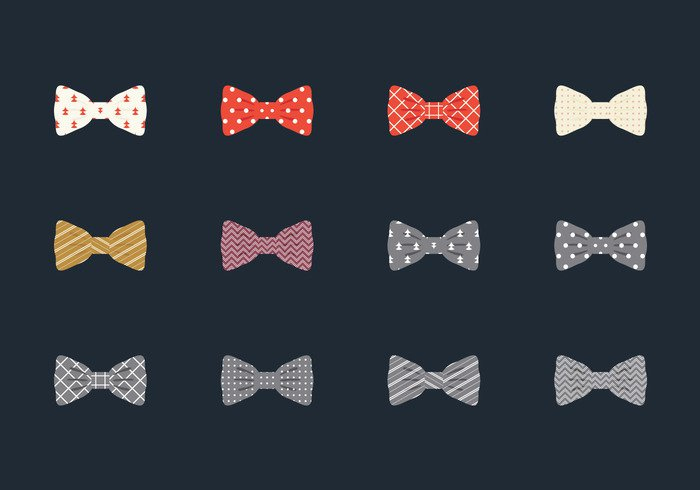 02v00rx0y1r3h44 Illustration Set Of Bow Tie