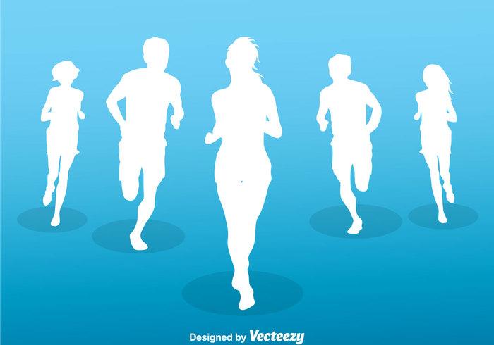 winning win training sport silhouette running silhouettes running silhouette running runner run marathon group fast exercise athlete activity