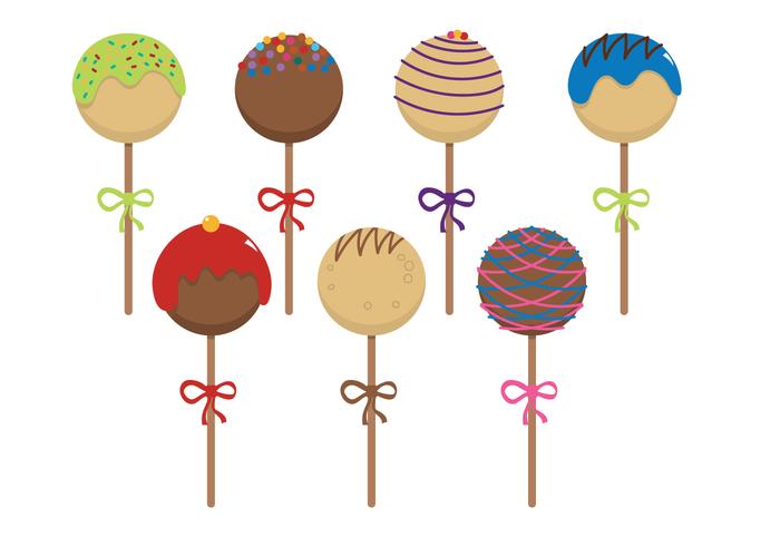 white vector sprinkle snack simple POS party on mint isolated illustrations food design desert clip chocolate celebration celebrate cartoon caramel cake pops cake art