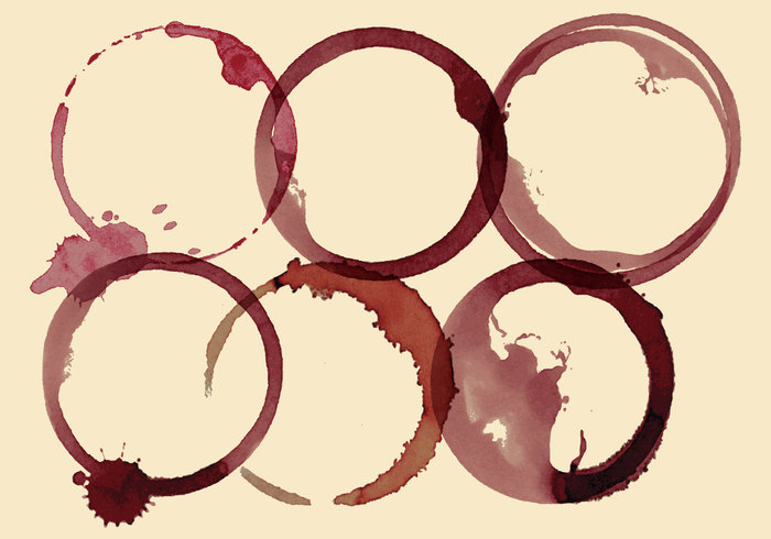 wine stains wine stain wine vector texture Stain splattered splatter splash shapes round ring red point paper outline mug mess liquid isolated espresso element droplet drop drink design cup contour coffee circle blots beige background