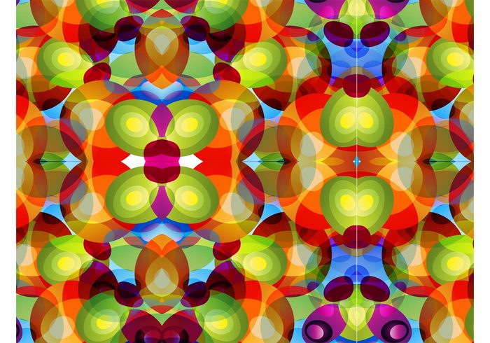 wallpaper sixties shapes seventies seamless psychedelic Lsd geometric Ellipses colors colorful 70's 60's
