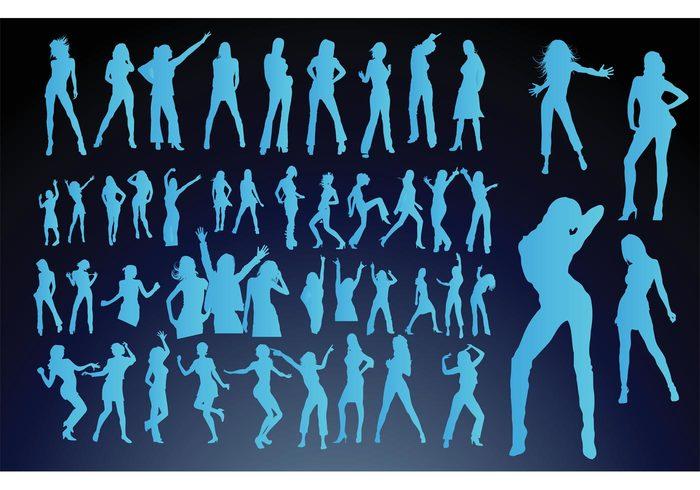 silhouette sexy pop people party nightlife nightclub music hot girls funky fun friendship flyer entertainment dance cool clubbing club bar Adult
