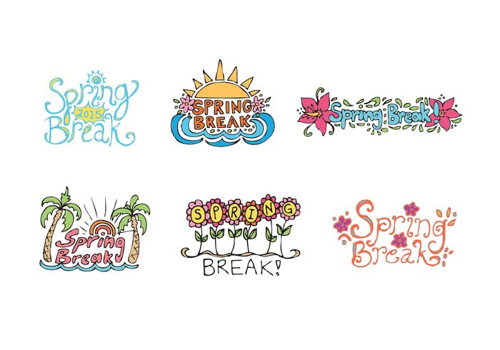 Free spring break vector series welovesolo water vacation sun spring label spring break label spring break icon spring break badge spring break mightylinksfo