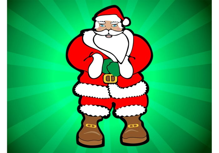 smiling Smile santa claus presents old man nice Naughty merry Jolly holiday happy gifts christmas children beard