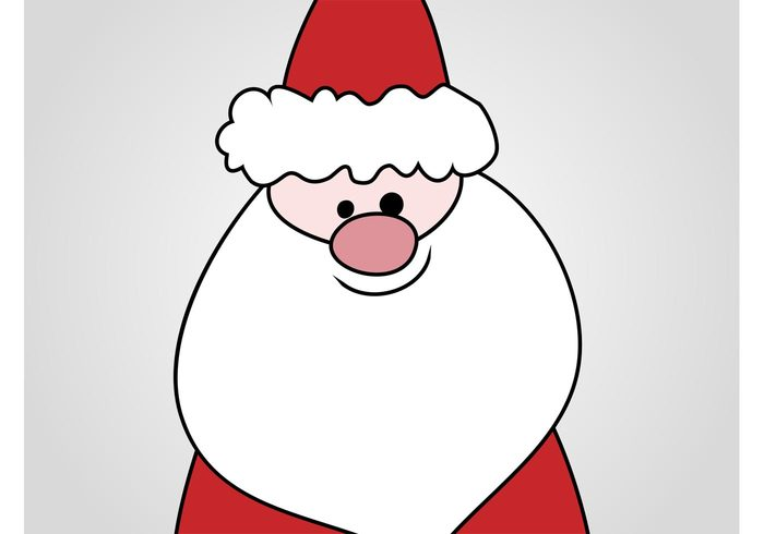 Smile santa claus mascot holiday happy festive comic christmas character celebration cartoon beard