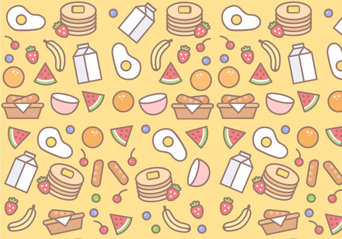 watermelon toast seamless pattern seamless sausage pattern pancakes pancake milk meat lunch juice fruit food eggs egg dinner cooking cheese cereal breakfast bread basket banana background