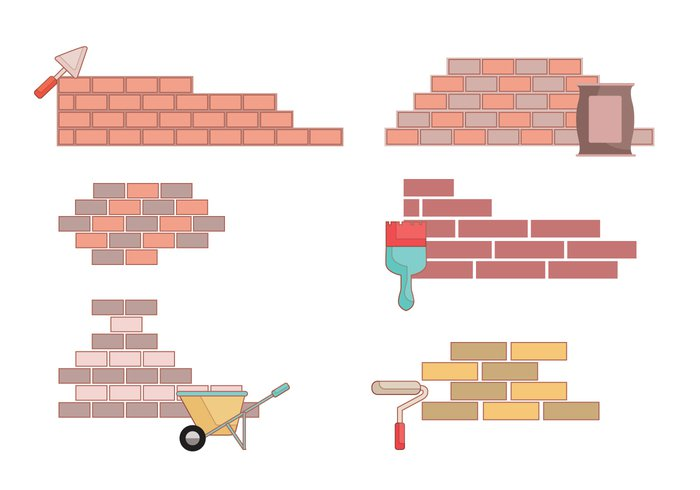 worker work wall stone skill repair renovation red reconstruction manual Laying Laborer industry indoors house home hardware equipment development construction cement builder Build bricklayer brick blocks background architecture activity