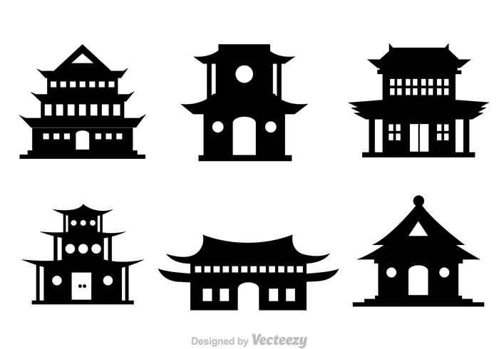 window traditional tower temple silhouette king gate fort emperor eastern chinese temple chinese china temple china building black