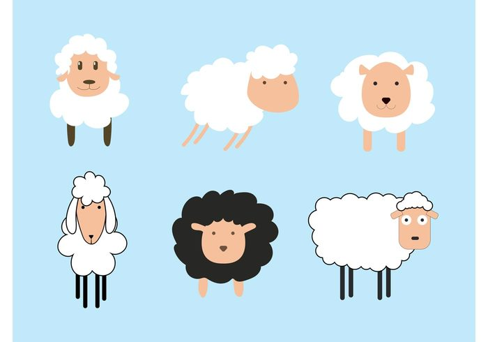 wool white sheep isolated sheep mammal lamb isolated funny farm cute character cartoon animal agriculture