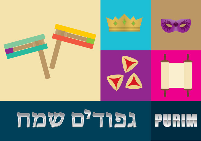 vector traditional Tradition Torah template sign scroll purim poster pastry party paper noisemaker Masquerade masque mask judaism jewish illustration holiday history hat hamantaschen haman grogger greeting food flags festival ears design culture cookies confetti clown celebration carnival card banner balloon baked
