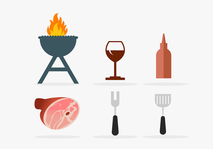 wine glass wine Spatula sausage sauce Roast pig roasting pig roast pig meat ketchup icons grill out grill fire beef bbq barbeque