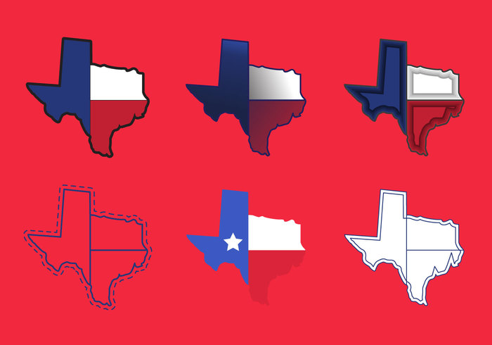Texas Map Vector Icons 2 147572 Welovesolo
