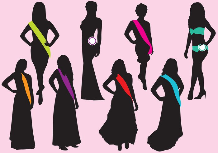women vector silhouette shape Sensuality retro people pageant music modern models image illustration Human graphic gown girl fun formal Females fashion dress design contest beauty beautiful background attire art