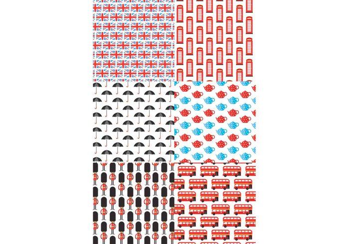 wallpaper vector umbrella UK texture Textile tea pot Surface stylish set pattern london city scape london calling London kids Guardian graphic fun flag fabric design decorative decoration cute city British background backdrop