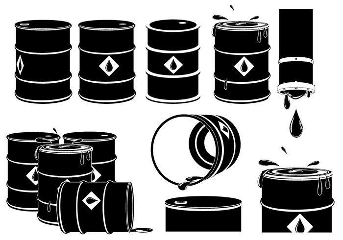 vector silhouette set refil pumps platformscribbling over oil field oil marker industry grunge gas field factory equipment element drums drum drilling development Derrick corporate background