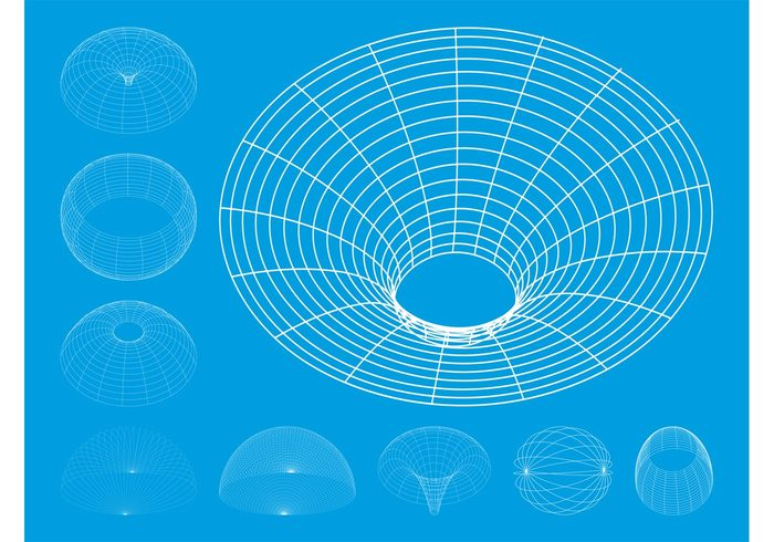 wireframes wireframe waves Stereometry lines Geometry geometric curves abstract 3d