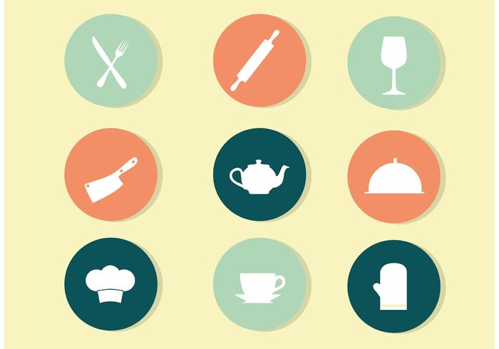 wine glass teapot tea symbol Rolling pin restaurant pictogram oven mit knife kitchen icon fork food cooking icon cooking cook coffee chef hat chef