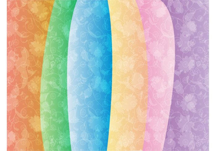 wallpaper swirls Stems scrolls flowers floral colors colorful background backdrop abstract