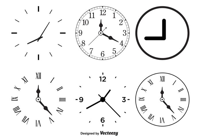 white watch view timer time clock time ticking symbol style simple silhouette sign shape second round roman numbers retro pointer painting outline object numeral numbers number modern minutes minute measurement measure late isolated illustration icon hour hand graphic face element dial Design Elements design Deadline contour concept Clockwork clockwise clock vectors clock shapes clock circle black background arrow