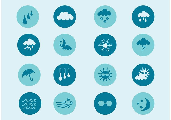 weather icon weather elements weather umbrella temperature symbol sun snowing snowflake raining rain nature moon lightning icon cloud icon cloud