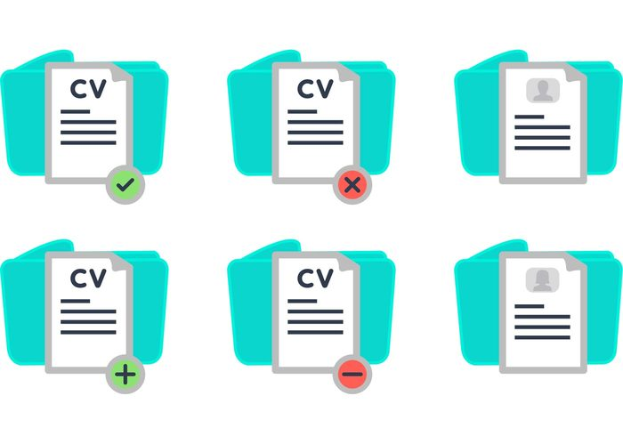 work application work woman profile positive negative man job application Job icon good curriculum vitae good curriculum flat CV curriculum vitae curriculum bad curriculum vitae bad curriculum