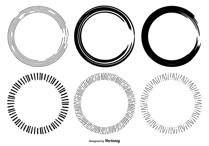 Hand Drawn Circle Frame Shapes 136974 - WeLoveSoLo