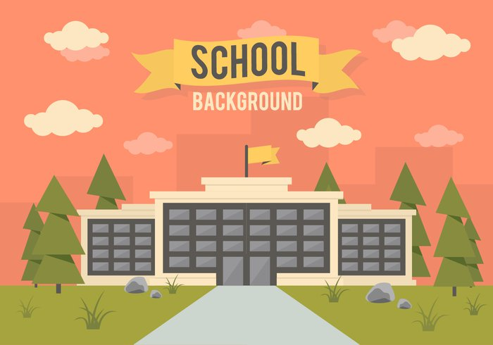 white village vector urban university town teacher symbol street sign schoolhouse school pupil people panoramic object landscape knowledge kids isolated illustration icon house high graduation grad flat education design constructor construction Construct concept college clock classical city cheerful campus building background art architecture