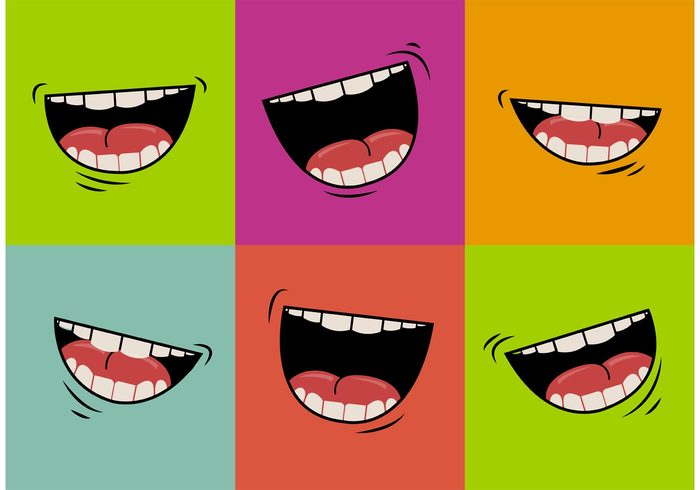 vector illustration vector Tongue teeth talk symbol Smile signal sign set series picture parts on mouth talking mouth many isolated illustration happy group graphic gesture Feeling expressions emotions drawing collection clipart Chatting chat cartoon background angry