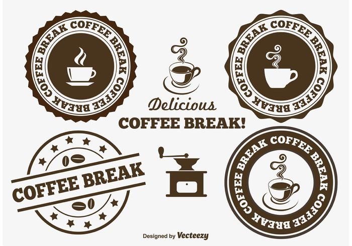 vintage vector tasteful symbols swirl still steam stamp saucer perfume pause office mug morning liquid label isolated illustration icons hot grains full fresh espresso drinks design delicious decoration decaf cups coffee label coffee break coffee badge coffee cappuccino caffeine cafes brown brewed breakfast break time break Blends black badge background aroma