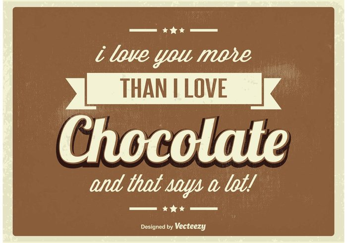 word Vintage poster vintage typography typographic typo type text template sweet sign retro poster retro quote poster note motivational message love letter i love you headline font design decorative chocolate card banner background