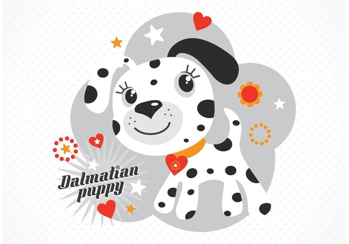web wallpaper vector sweet silhouette puppy print pretty postcard pattern mascot lovely little illustration icon happy graphic funny eyes drawing dog design dalmatian puppy dalmatian cute clip characters character cartoon book background art animals animal adorable