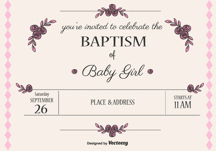 template tag shower religion party invite invitation holy girl first communion cross church christian child card baptism background baby