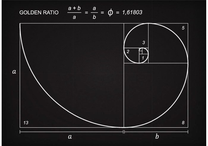 wave vinci swirl square spiral section science ratio proportion Perfection Mathematics math line Ideal Harmony grunge graphic golden ratio Geometry geometric fractal Formula Fibonacci eternity education drawing draft Divine design Composition chalk blackboard black Balance background art ancient
