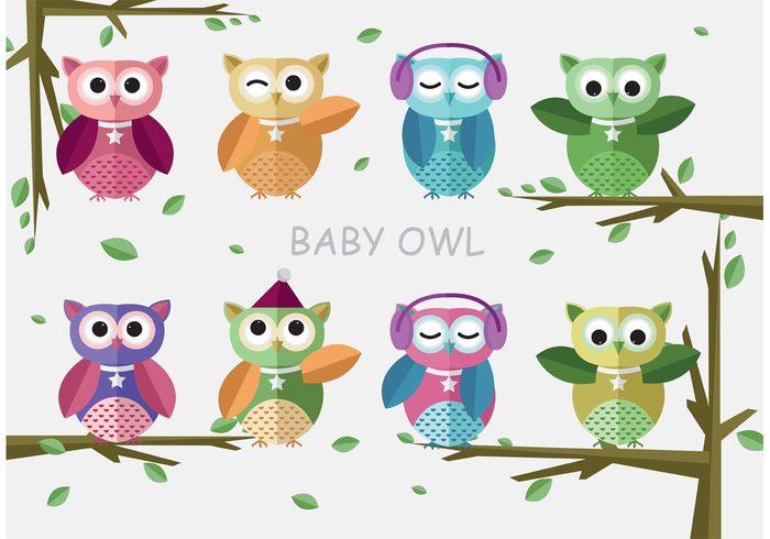 Baby Shower Owl Vectors Welovesolo