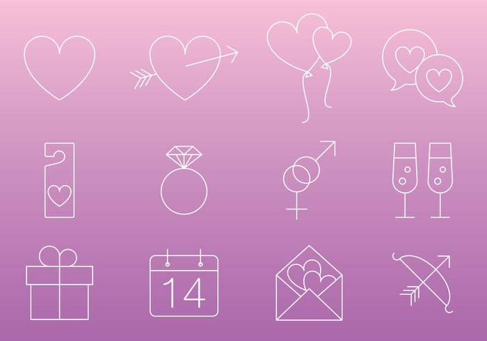 wedding valentines day valentines valentine icon valentine rose romantic romance ring pink love letter key icons icon holiday heart glass gift flower engagement decoration dating cupids bow cupid champagne celebration calendar bow balloon arrow