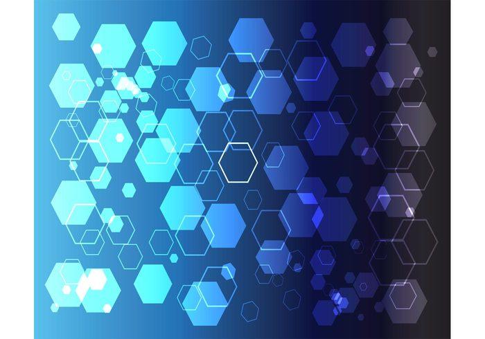 vector background transparent Six lines Hexagon vector hexagon geometric flyer blue backdrop abstract