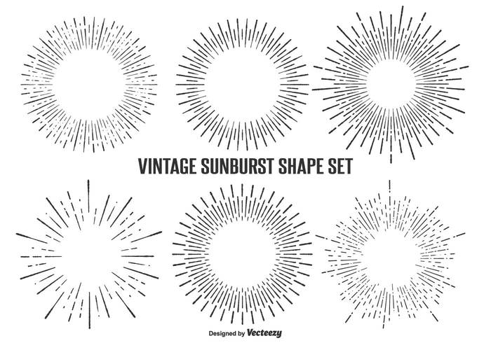 vintage sunburst shape set 104220