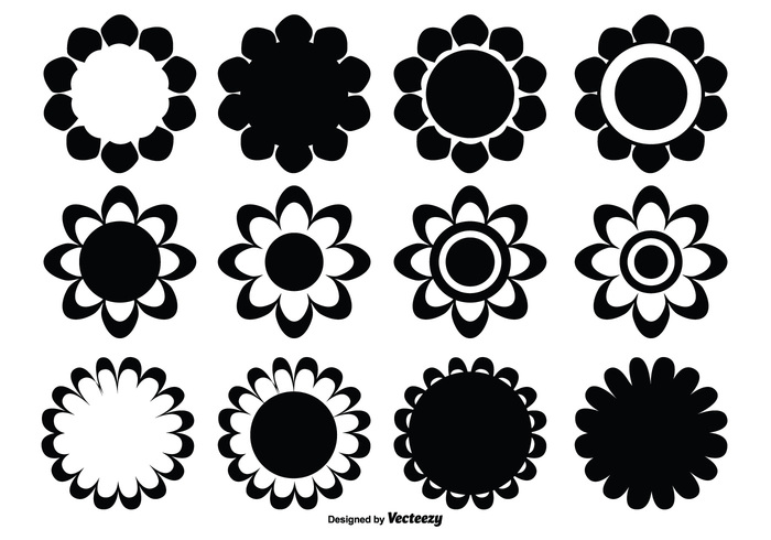 vintage tattoo Symbolism sunflower summer star spring simple silhouette sign shape set shape set pretty plant petals pattern outline ornament nature natural isolated icon horticulture Flower shapes flower shape flower florist floral flora element drawing Design Elements decorative botany blossom black beauty background abstract