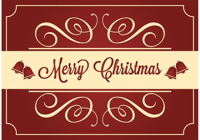 xmas wishes winter vector card vector seasonal season red card red merry christmas merry jingle bells illustration holiday card holiday happy greeting card greeting gift festive festival december 25th December christmas card christmas bells christmas card vector card background