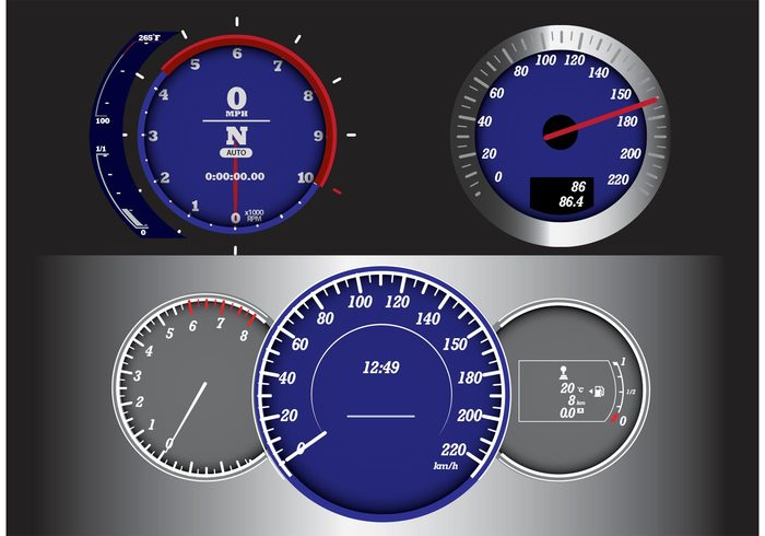 vehicle speedometer speed panel measurement tabs measurement km kilometer dial dashboard car background automobile auto