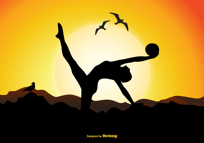 woman teenager sunset stretch sport slim skill sit scene PRACTICE person outdoors Outdoor orange nature mountain leisure jump Healthy happiness gymnastics gymnast silhouette gymnast fun fitness female exercise dividing dance cute concept cheerful body beautiful Athletic athlete activity acrobatics