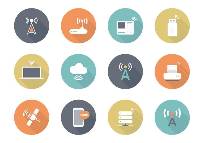 wireless wifi web vector Telecommunications technology symbol sms smartphone smart set pictogram modern mobile internet illustration icons icon graphic flat equipment electronics device design connection concept communicator communication cellphone cell tower business